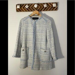 Zara tweed blazer jacket